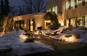 Outdoor Lighting, CAST Lighting, Winter Landscape